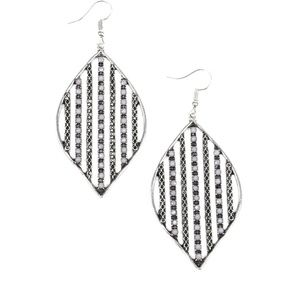 Silver and gray  earrings